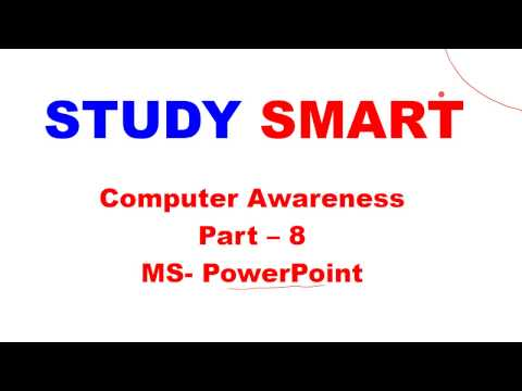 MS OFFICE- PowerPoint | Facts | Shortcut keys | Computer Awareness [in Hindi] Part 8