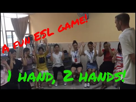 A fun ESL game: 1 hand, 2 hands. Listening practice.