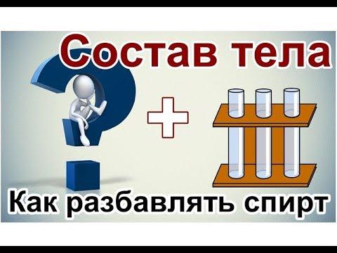 ✔️ Состав тела + Как разбавлять спирт и самогон