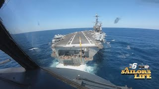 Landing and living on a U.S. Navy Aircraft Carrier  A Sailor's Life, TV6 News, April 2019
