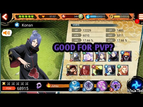 Naruto x Boruto Ninja Voltage: konan full kit review