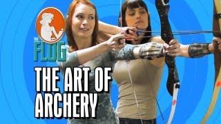 Felicia Day & Morgan Webb Master the Art of Archery