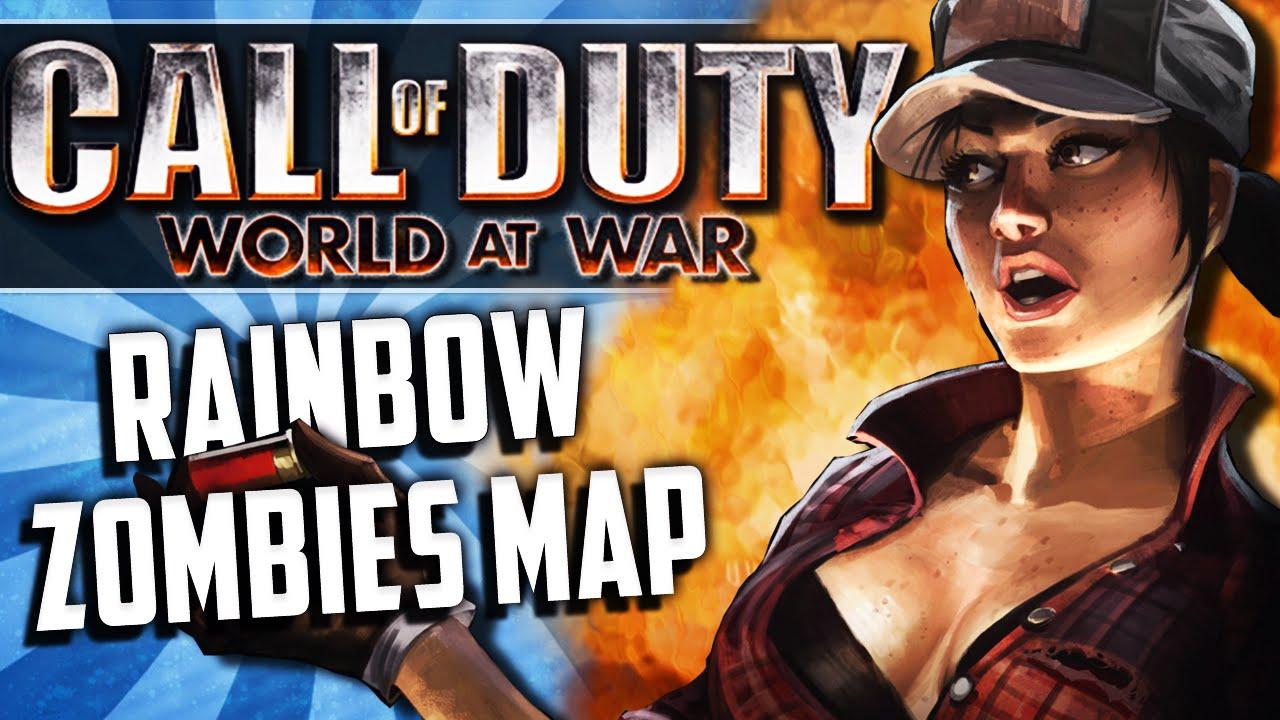 COD WAW Custom Vanoss Zombies Map! (Rainbow, Secret of YouTube ...