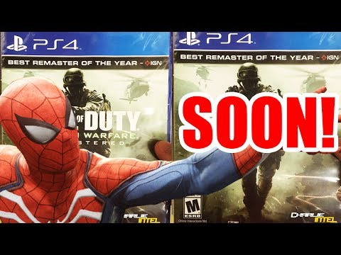 MODERN WARFARE OUT NEXT WEEK, SPIDERMAN PS4 RELEASE DATE, SWITCH RARE TIL 2018!