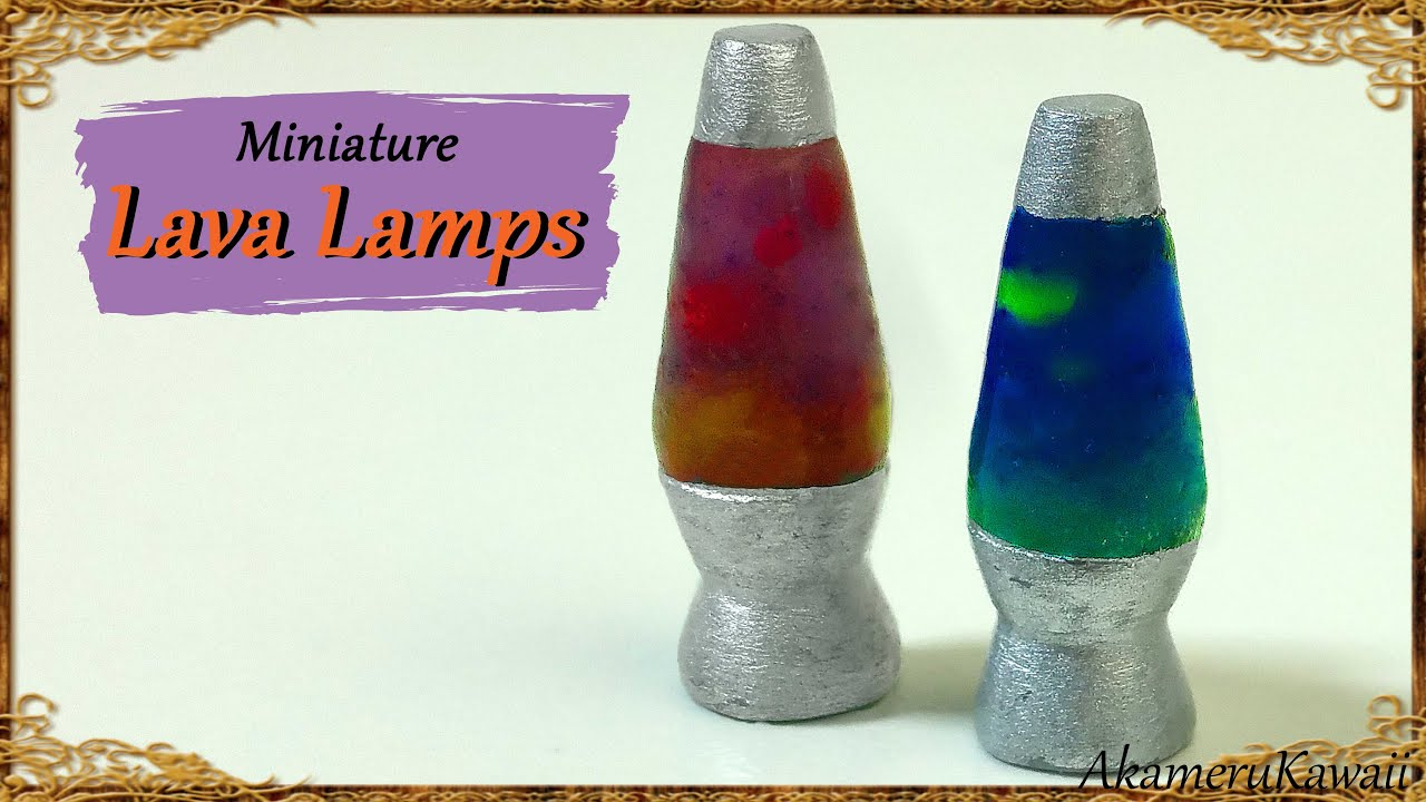 Miniature Lava Lamps Polymer Clay Tutorial