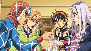 mista sharing knowledge with gang - JoJo's Part 5 Episode 38