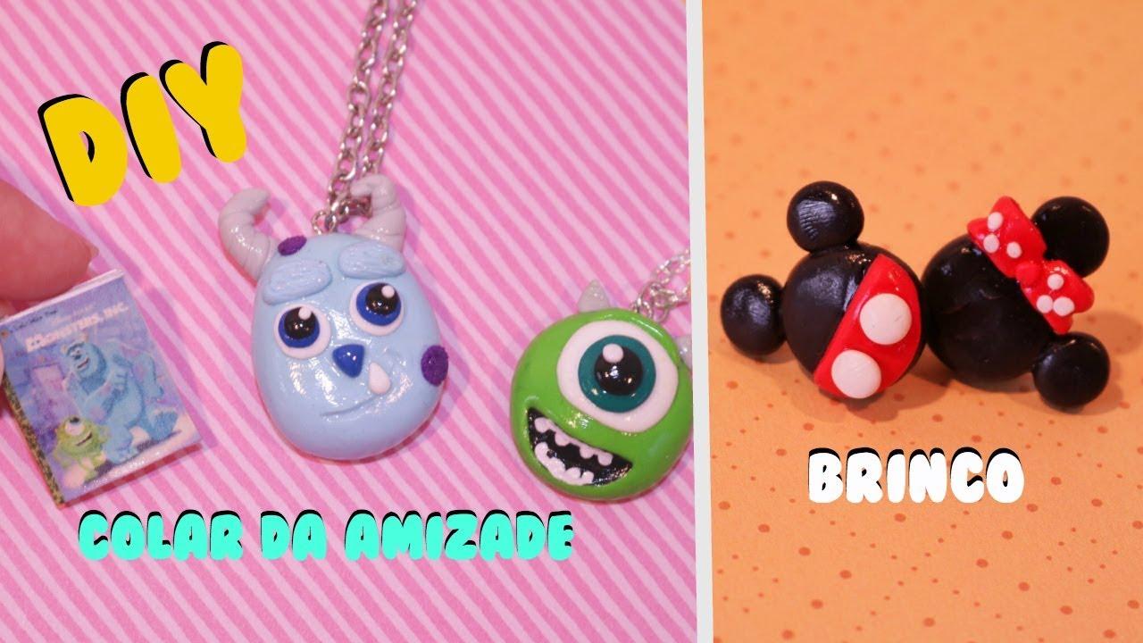 Colar Da Amizade Diferentes: DIY DISNEY : COLAR DA AMIZADE Monstros S.A , Brinco Mickey