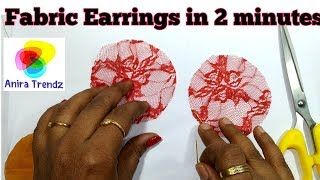 Gambar cover DIY Net Fabric Earring under 2 minutes