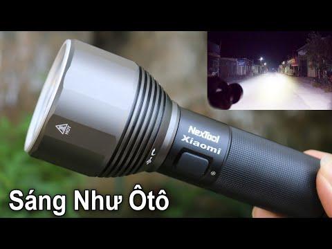 Đèn Pin Gì Mà Sáng Như Ôtô Luôn Vậy - Test Đèn Pin Siêu Sáng Giá Rẻ XIAOMI NEXTOOL