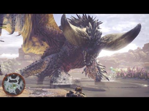 HUGE BAT DRAGON!?!? - Monster Hunter World Gameplay | Ep3 HD