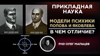 Отличие модели психики Попова от модели Яковлева. PhD Олег Мальцев