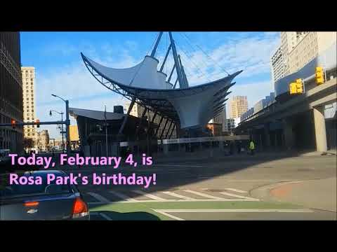 Downtown Detroit Feb 2020: Rosa Parks Center, The Book Tower, The Buhl Building, Stadium Areas