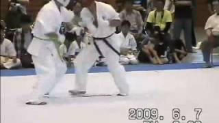 福田 晃 4級 (安来) vs 岡本 健一 1級 (倉吉)