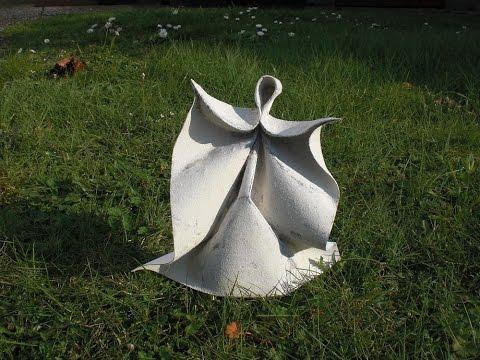 "Origami ""A glance into heaven"" (Alexander Kurth) Wet Folding Tutorial"