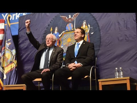 Sanders, Cuomo debut plan for free N.Y. tuition