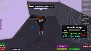 Working out in the Roblox Gym by mew903