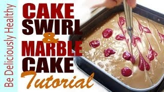 Marble Cake And Cake Swirls Tutorial