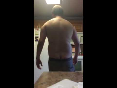 Slow motion fat belly punch 2