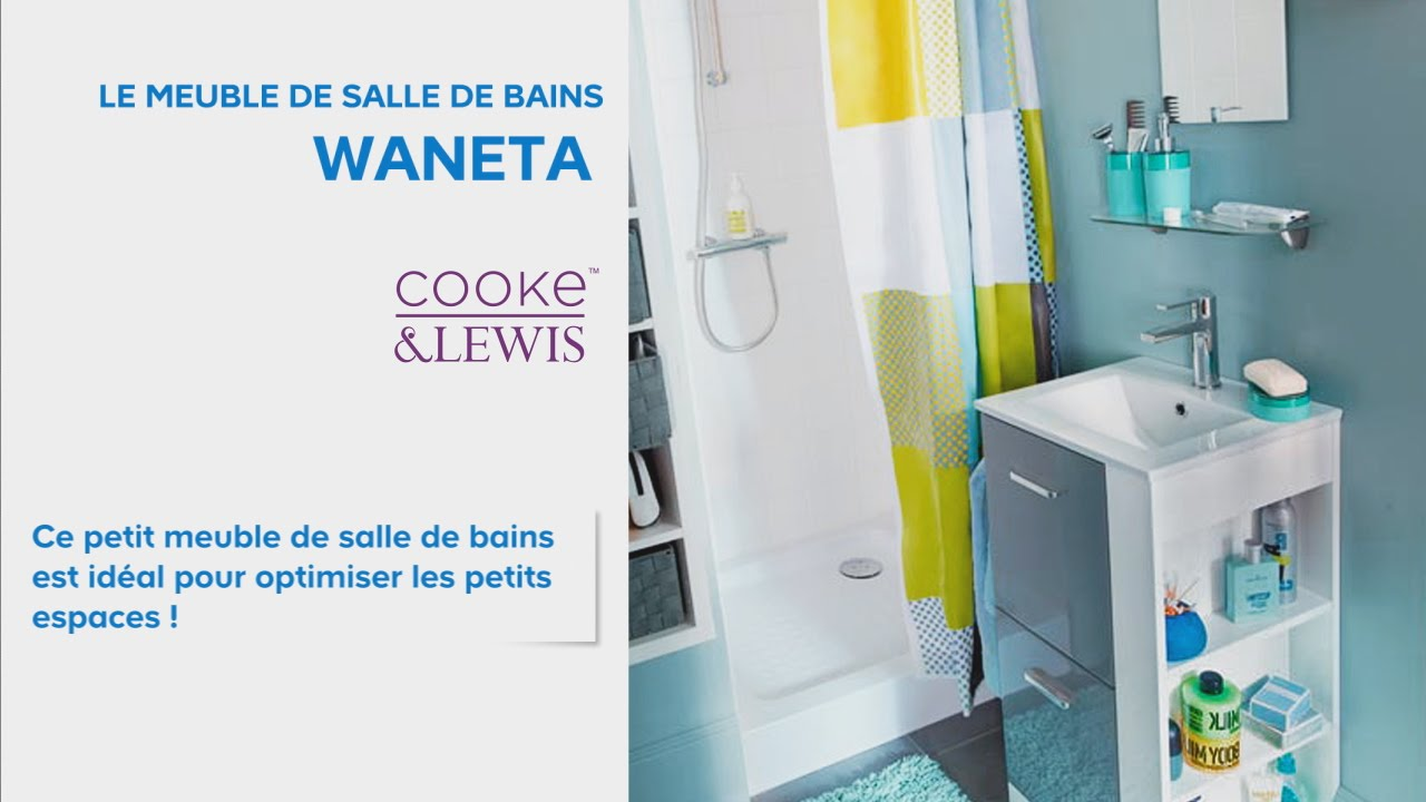 meuble de salle de bains waneta cooke lewis 665262 castorama youtube. Black Bedroom Furniture Sets. Home Design Ideas