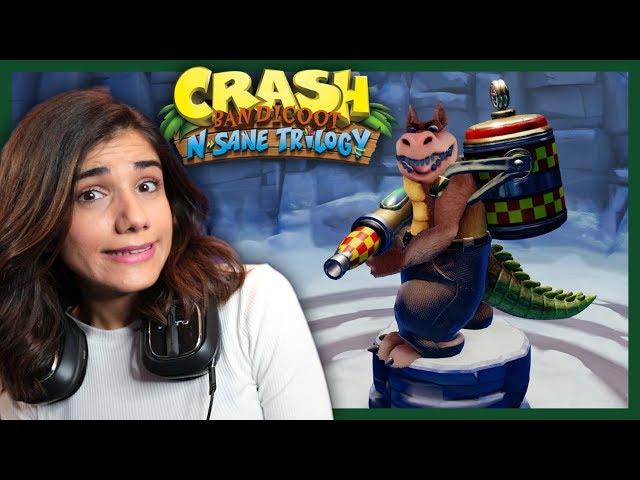ΤΑ ΒΑΖΩ ΜΕ ΤΟΝ ΚΡΟΚΟΔΕΙΛΟ ΠΟΥ ΠΕΤΑΕΙ ΦΩΤΙΕΣ | Crash Bandicoot | GamerKonstantina
