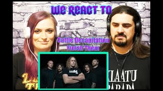 Cattle Decapitation - Finish Them (First Time Couple Reacts)