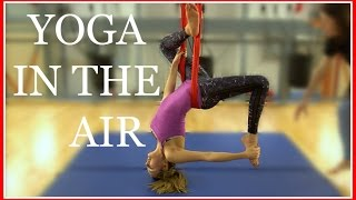 MY FIRST AERIAL YOGA CLASS   VLOGMAS #6 AD