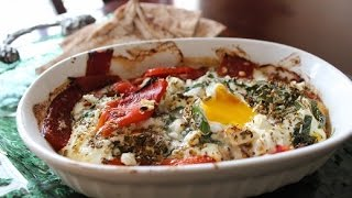 Herbed & Baked Eggs With Feta