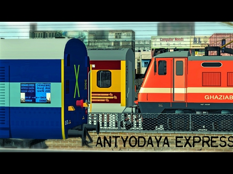 [MSTS] Train Simulator Indian Railways : ANTYODAYA EXPRESS First Run From NEW DELHI Railway Station