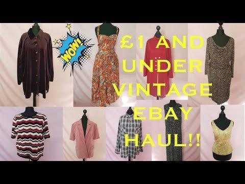 64b5e2d5bd3 Massive 99p Vintage Clothes Ebay Haul Summer 2018