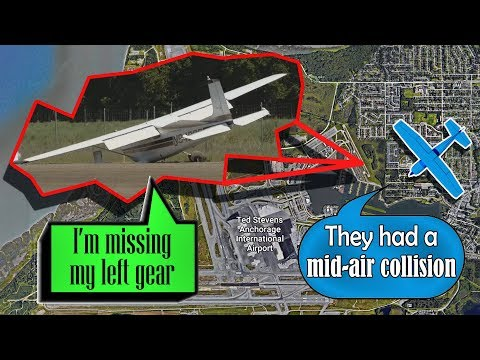 REAL ATC Two Cessnas COLLIDED MIDAIR north of Anchorage!