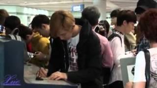 120919 Chanyeol at Beijing Airport  (xue)