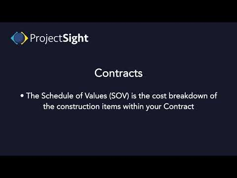 ProjectSight Training -  Contracts
