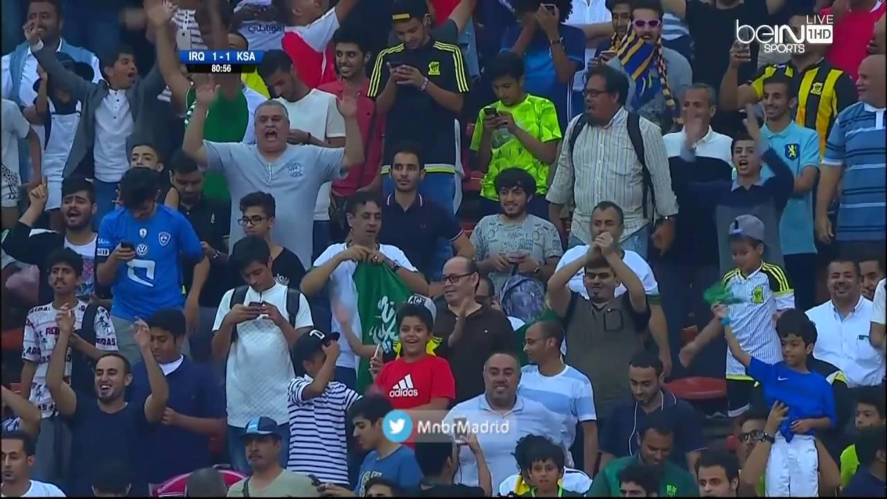 اهداف السعودية والعراق 2-1   بصوت عصام الشوالي    تصفيات كأس العالم 2018 HD