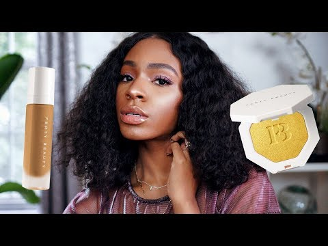 FULL FACE OF FENTY BEAUTY BY RIHANNA! First Impressions + Review ▸ VICKYLOGAN