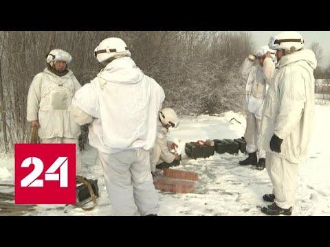 В Тыве военные подрывают лед на реке, чтобы защитить город Чадан от подтопления - Россия 24