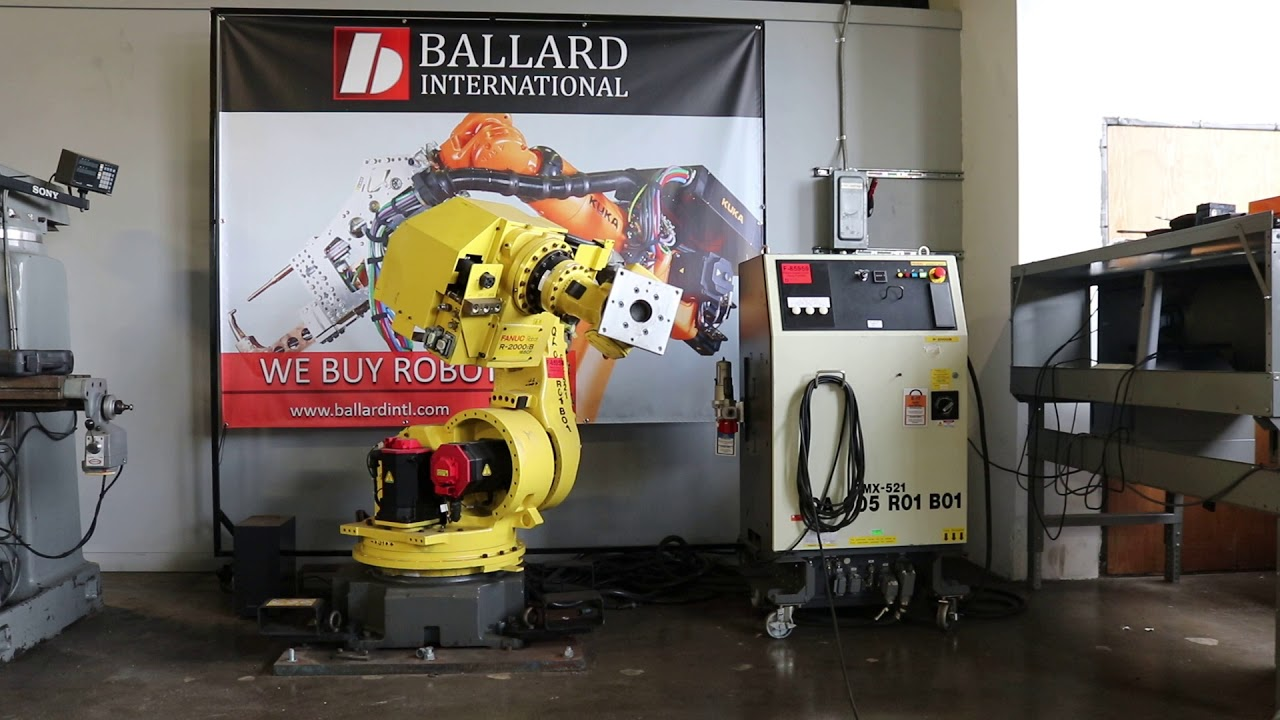 ballard international - fanuc r-2000ib 165cf robot test - youtube