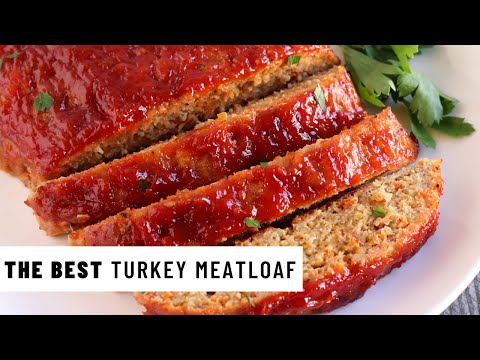 The BEST TURKEY MEATLOAF | The SECRET to moist, and never dry meatloaf!