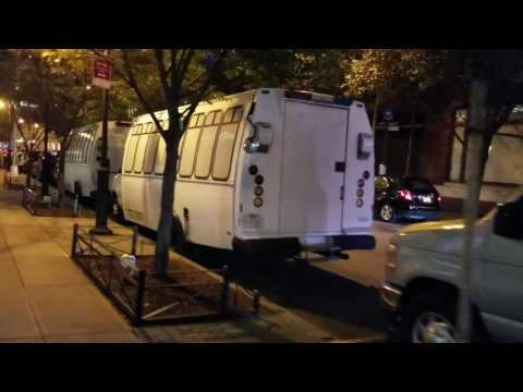 USHS Immigration And Customs Enforcement Vehicles Parked In Manhattan, New York