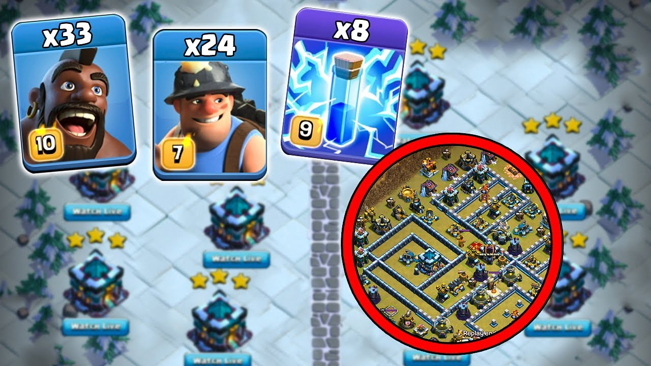 Th13 CWL Attack Strategy 2020! Destroy TH13 Bases | New Town Hall 13 Attack | Clash of Clans