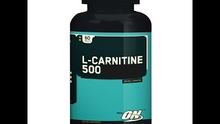 Carnitine Supplement Review L-Carnitine Optimum Nutrition Review
