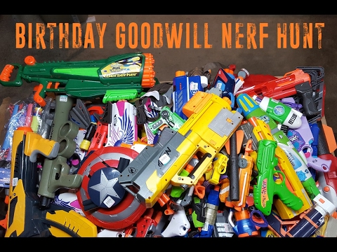 Birthday Goodwill Nerf Hunt (Biggest Goodwill run yet!)
