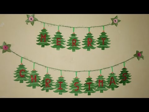 DIY Christmas Garland,Merry Christmas Tree Garland Decoration,How to make Christmas Garland?