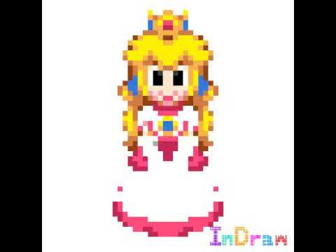 Super Mario World Princess Peach Pixel Art Youtube