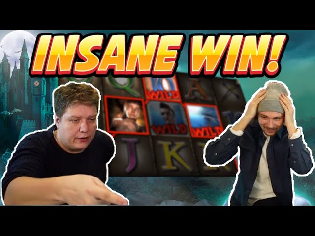 INSANE WIN! Vampires Big win - HUGE WIN on Casino slots from Casinodaddy LIVE STREAM