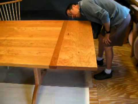 Part 1 Attaching Trestle Table Leaves With Timothy Clark,  Cabinetmaker/Chairwright   YouTube