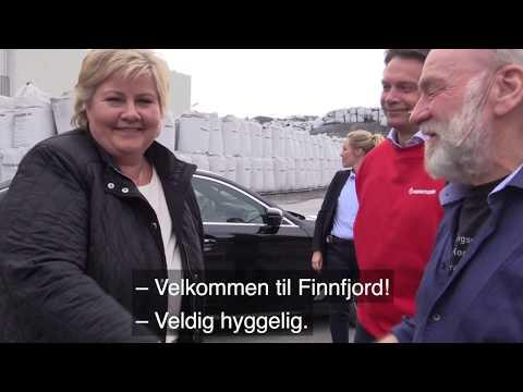 Erna Solberg besøker Finnfjord