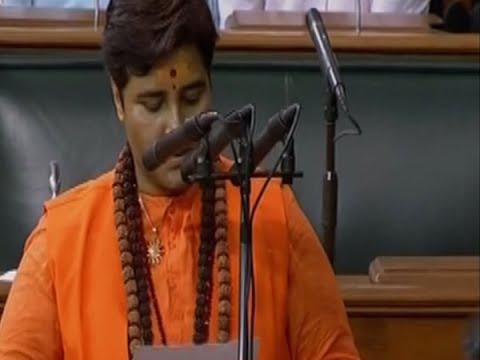 Pragya Thakur's oath taking sparks ruckus in Lok Sabha