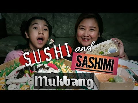 SUSHI And SASHIMI MUKBANG With BABE | Featuring GRYN WASABI