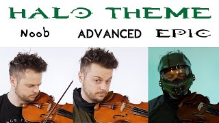 5 Levels of Halo Theme: Noob to Epic