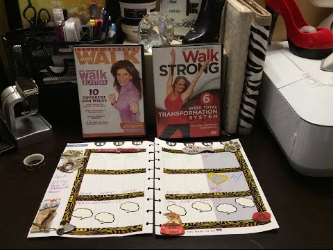 Plan with me Sunday, the happy planner, weightloss, workout, jessicasmithtv, leslie Sansone